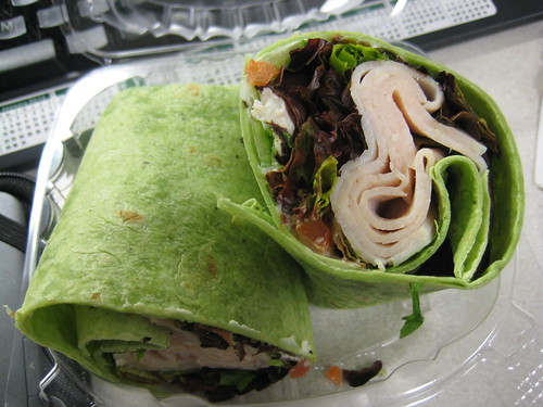 turkey wrap with goats cheese