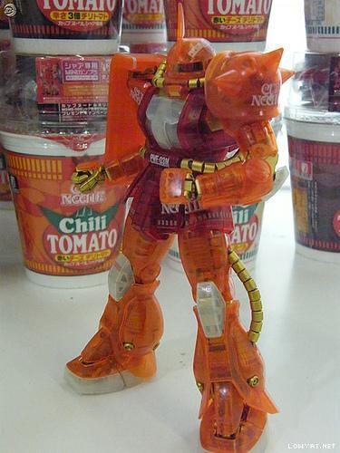 Zaku-II Char's {Cup Noodle 1000 # Clear} (3)