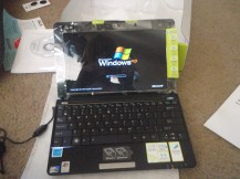 Setting up the new netbook