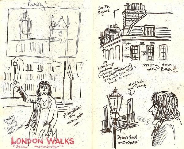 rainy walk in westminster