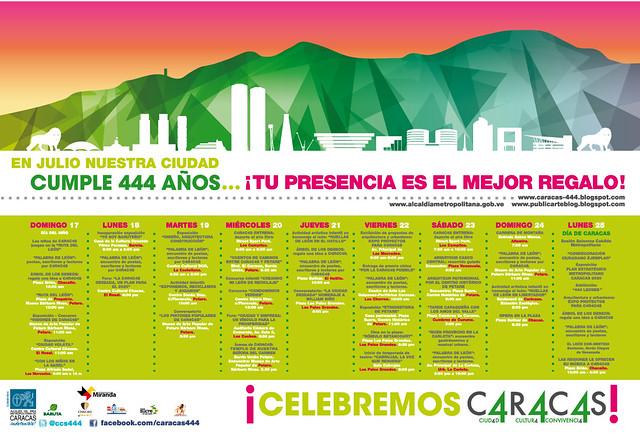 Cronograma Semana Aniversario de Caracas