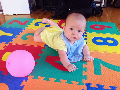 Miles trying to crawl