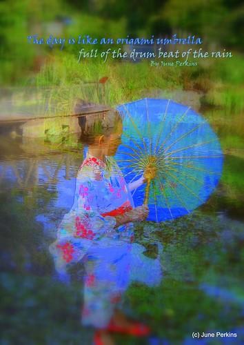 origami umbrella poster by gumbootspearlz creations - June Perkins