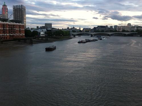 stripe along river
