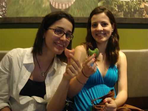 Nora and Amanda! w/ rose and pistachio