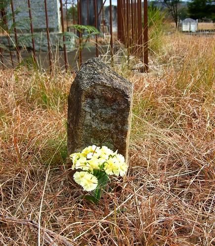 tiny headstone