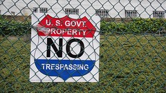 US Govt Property No Trespassing