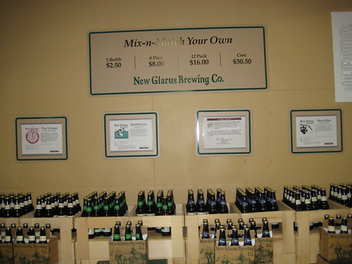 New Glarus beer at brewery, Wisconsin