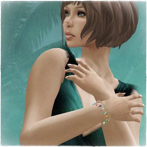 Hatpins - Semi-Precious Charm Bracelet