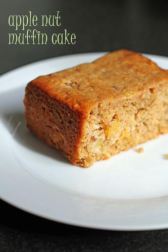 apple nut muffin cake