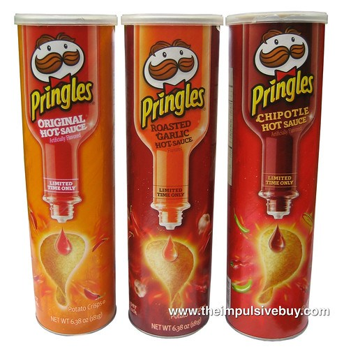 Pringles Hot Sauce (Original, Roasted Garlic and Chipotle