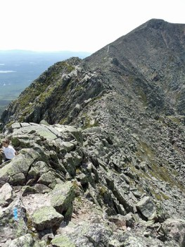 View across Katahdin's Knife Edge trail.