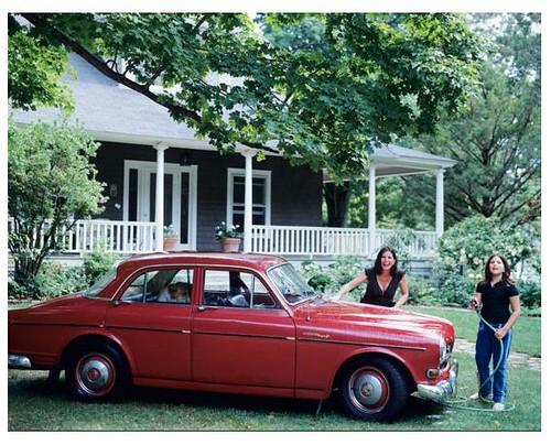 vintage red car Laura Resen