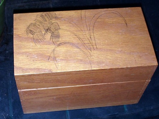 Drawing A Palm Tree On A Wood Box