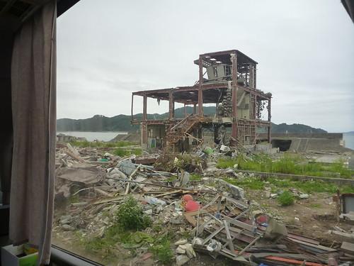 陸前高田でボランティア Rikuzentakata, Iwate pref. Deeply affected area by Huge Tsunami