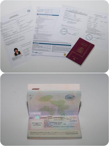 Papeleo y visado para Rusia
