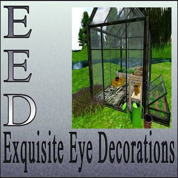 Exquisite Eye Decorations, Green House, Half Price!