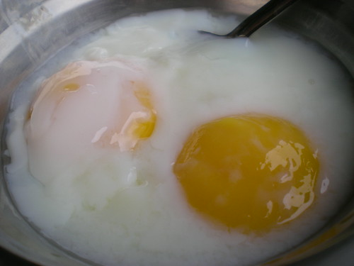 Half-boiled eggs 1