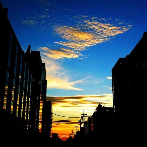 夕暮れ。 今日も一日、お疲れ様でした。( ╹◡╹) #sunset #iphoneography #instagram