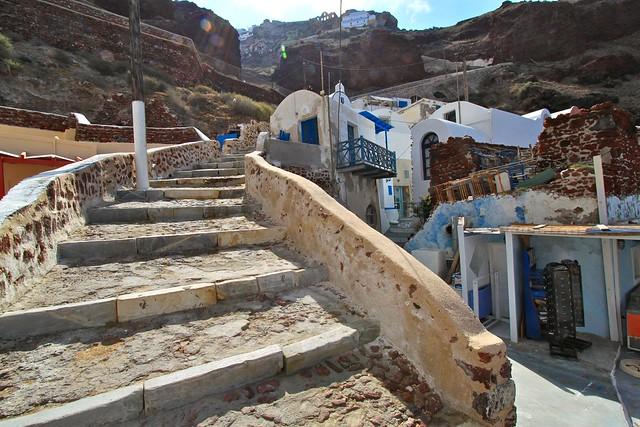 Escaliers vers Oia, Santorin
