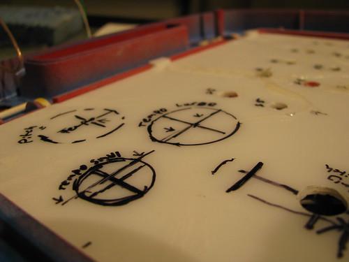 DIY drum machine - control board layout design