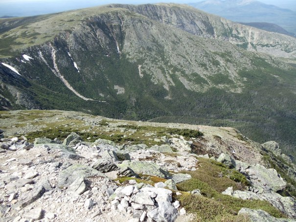 The view of Hamlin Ridge from the Cathedral Trail on Katahdin.