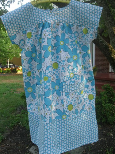 O+S Dress: blue front