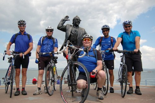 Paull Cyclist in Morecambe