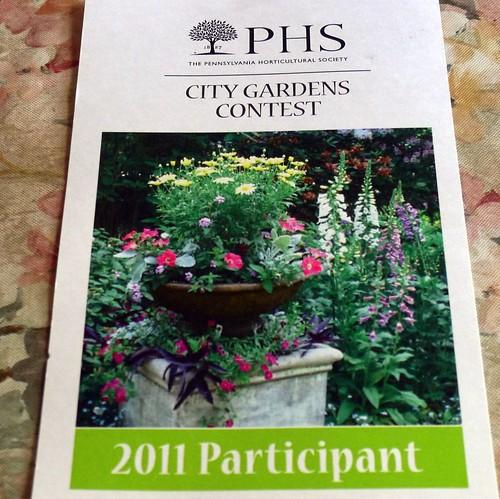 2011 PHS City Gardens Contest