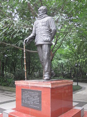 Only Ba Jin statue I've ever seen in China