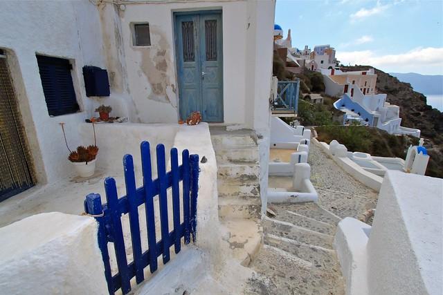 Jolie entrée, Santorin, Grèce