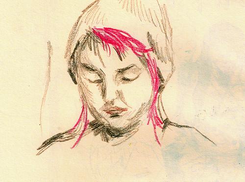 Quick portrait of a woman reading
