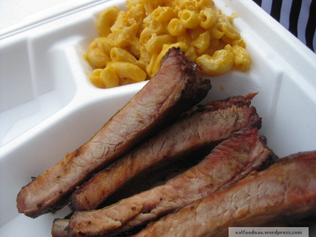 Rib and Mac n cheese from Big Boned
