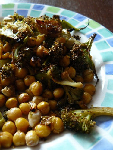 Forty Clove Chickpeas and Broccoli