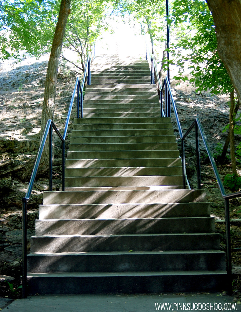 stairs up the crater