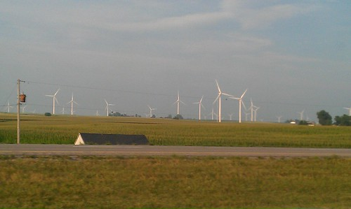 Windmills in Peoria, IL (phone camera)