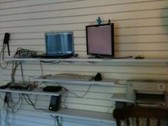 Standing desk in progress