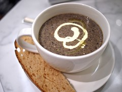 Mushroom soup, Brunetti's Singapore, Tanglin Mall