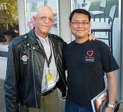 Michael Berryman (L) & me