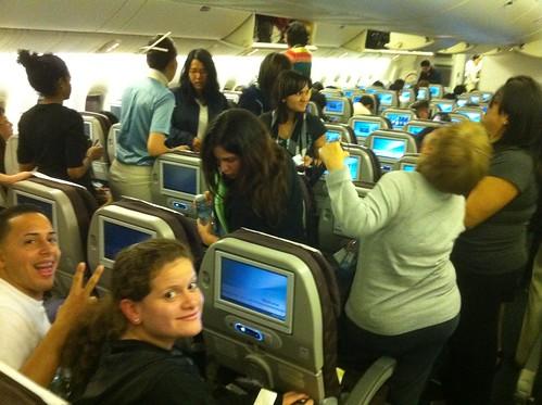 En el avión para Seoul! / One the plane to Seoul!