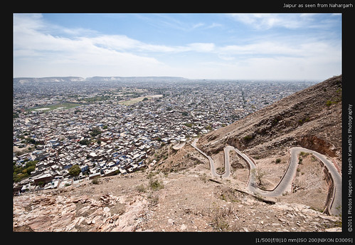 Jaipur as seen from Nahargarh