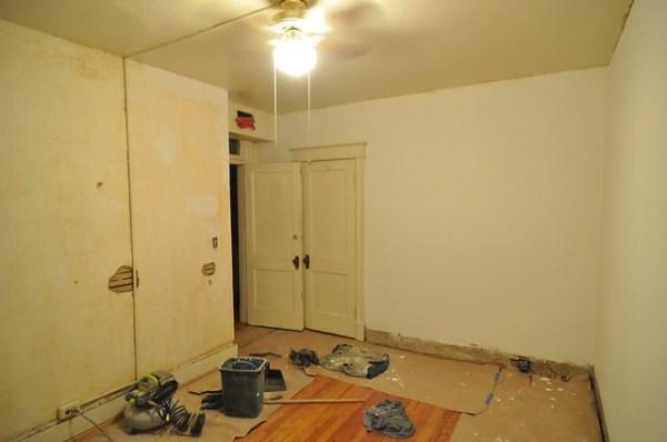 Bedroom 2 half-primed