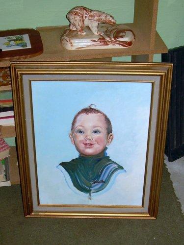 Horrifying portrait of child