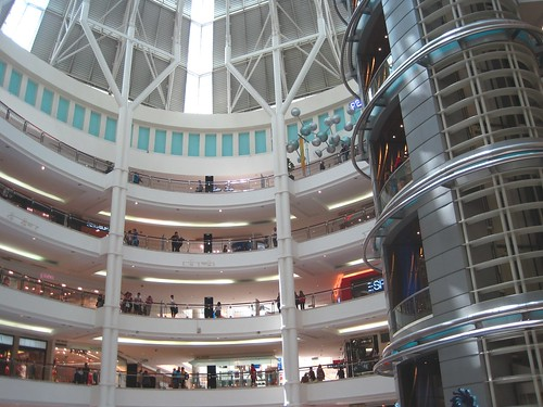 one of the many giant, gleaming shopping malls