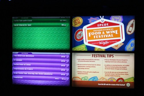 Epcot Food and Wine Festival tip board