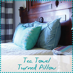 tea towel turned pillow