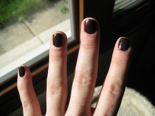 dark nails