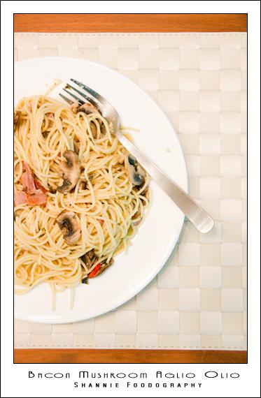 Bacon Mushroom Aglio Olio REVISIT!