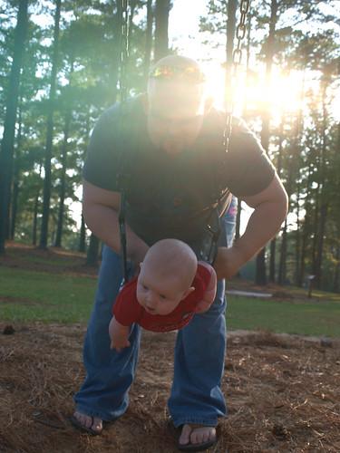 Bobby swings Noah