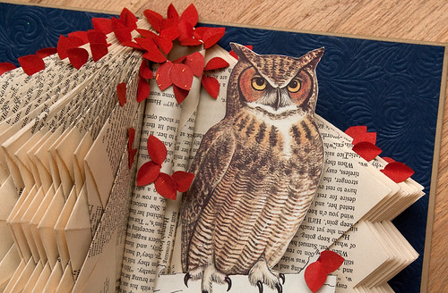 Altered Books Great Horned Owl-2
